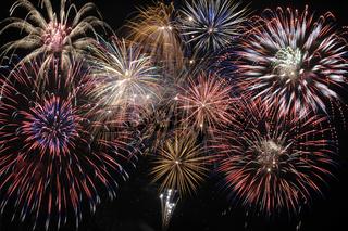 Neujahr mit Feuerwerk