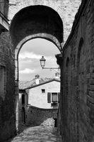 Medieval street in Santarcangelo di Romagna