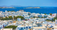 Panoramic view of Mykonos town