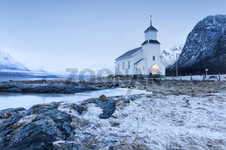 Kleine Kirche in Norwegen