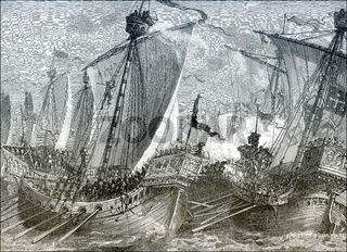 The Battle of Sandwich on 24 August 1217