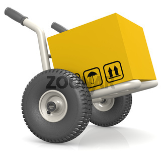 Dolly deliver package