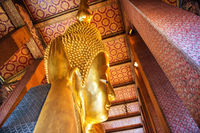 Statue of Reclining Buddha in temple Wat Pho, Bangkok