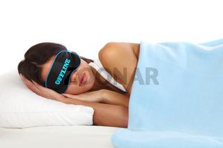 offline sleeping woman