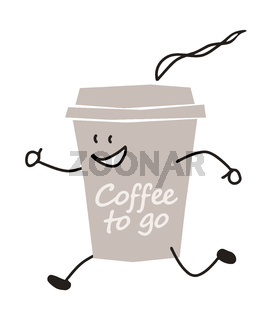 funny coffee to go character