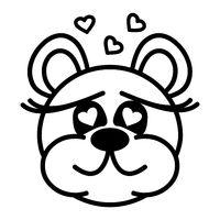 Niedlicher Bär, verliebt
