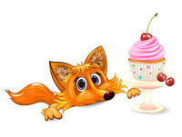 Fox and ñupcake with ñherry
