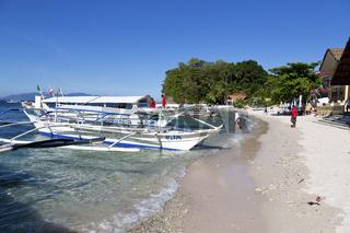 Typical Ferry Boat on the Big La Laguna Beach on Mindoro Island