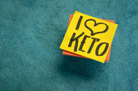 I love keto - ketogenic, high fat diet and lifestyle concept