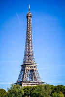 Eiffel Tower view from the Seine, Paris