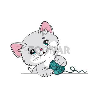 Funny cat. Vector illustration