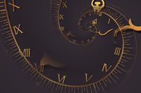 Droste effect background. Abstract design for concepts related to time.
