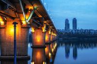 cheongdam bridge at night