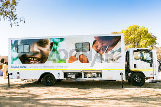 Exterior of a Mobile Clinic on a truck