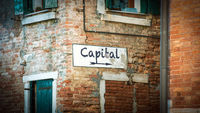 Street Sign to Capital
