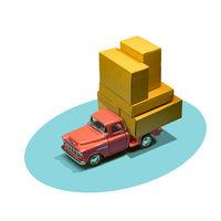 Car delivering packages