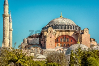 Hagia Sophia a former cathedral and mosque in Istanbul but now a museum