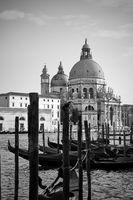 Grand Canal and Santa Maria della Salute church in Venice