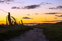 Sonnenaufgang am Wattenmeer auf der Insel Amrum