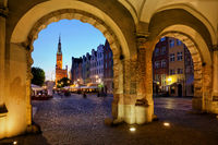 Evening in Old Town of Gdansk
