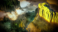 Whie canyon in the sunny day 3d rendering
