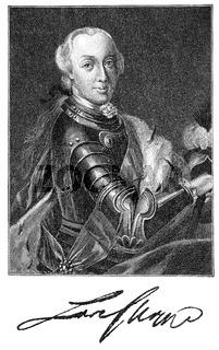Carl Eugen, 1728 - 1793, Duke of Wuerttemberg