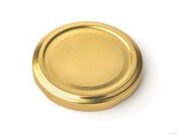 Golden metal jar lid