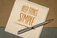 keep things simple inspirational note