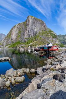 Picturesque harbor of Hamnoy Lofoten Islands, North Norway