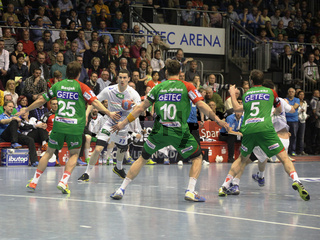 Spiel SC Magdeburg-HSV Handball 29.Spieltag Bundesliga Saison 13/14