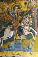 Der Heilige Georg ersticht eine Schlange und rettet Prinzessin Birutawit das Leben