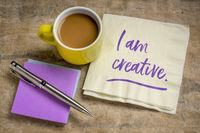 I am creative - positive affirmation
