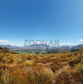 Tal in der Nähe von Queenstown, Otago, Südinsel, Neuseeland, Ozeanien.