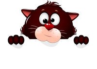 Cute cat cartoon portrait
