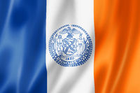 New York city flag, USA