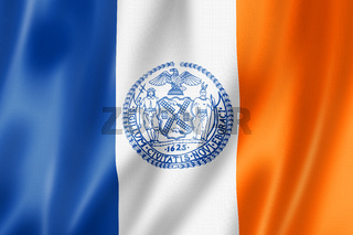 New York city flag, USA