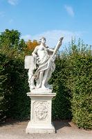 Woman sculpture in Belvedere park, Vienna