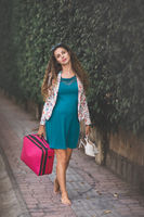 Outdoor portrait of a pregnant woman