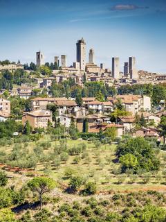 View to San Gimignano