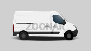 typical white transport vehicle