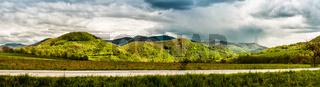 Panoramic view of mountains in springtime. Slovakia