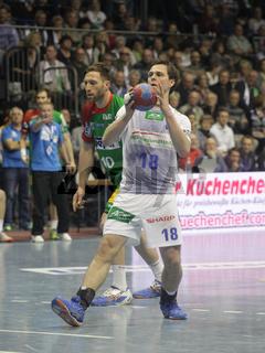 Hans Lindberg HSV Handball im Spiel SC Magdeburg-HSV Handball 29.Spieltag Bundesliga Saison 13/14