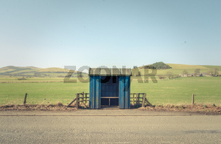 Empty Rural Bus Shelter