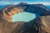 Maly Semyachik volcano on Kamchatka
