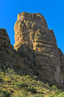 Guh Felsturm. in dem sich die Felsenkirche Abuna Yemata befindet