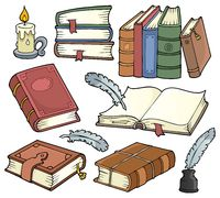 Old books theme set 1