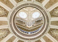 Vienna, AUSTRIA - FEBRUARY 17, 2015 - Ceiling of the Natural History Museum in Vienna.