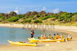 Sea kayaking - Coles Bay