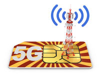 Sim card and telecommunication tower