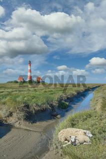 Westerhever Leuchtturm,Nordsee,Nordfriesland,SH,Deutschland